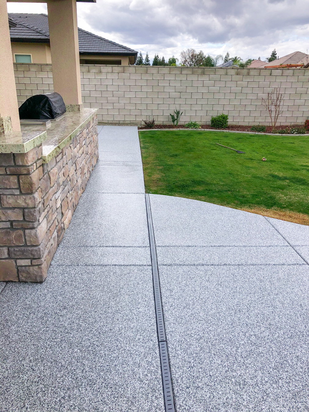 Concrete Flooring on a Patio