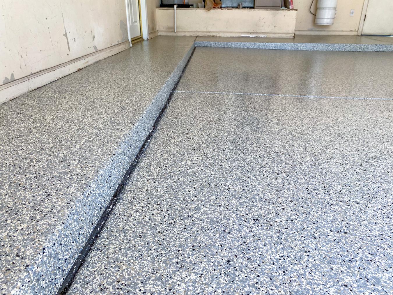 Gray Epoxy Concrete Coating on a Garage Floor