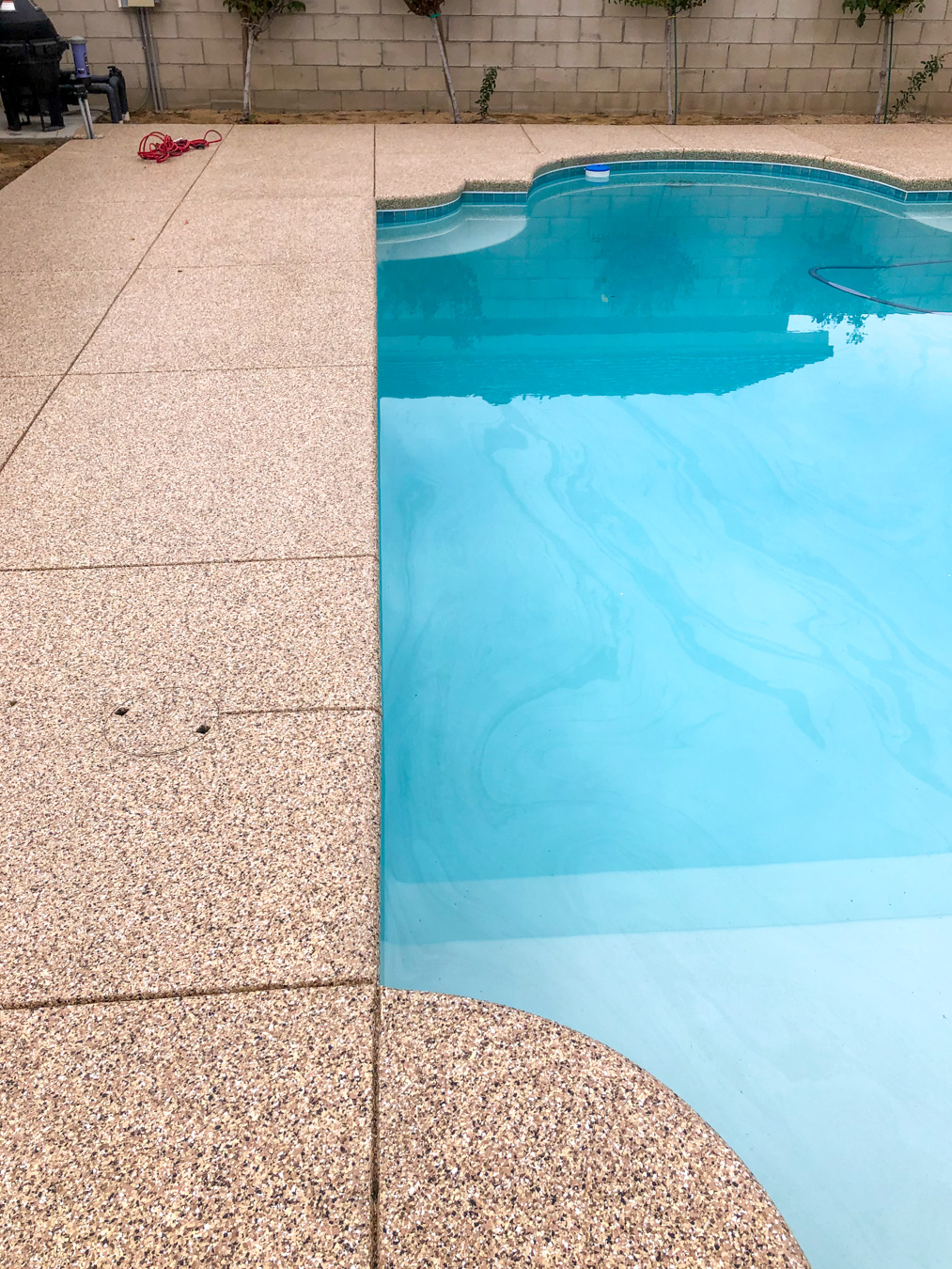 Concrete Coating on a Pool Deck