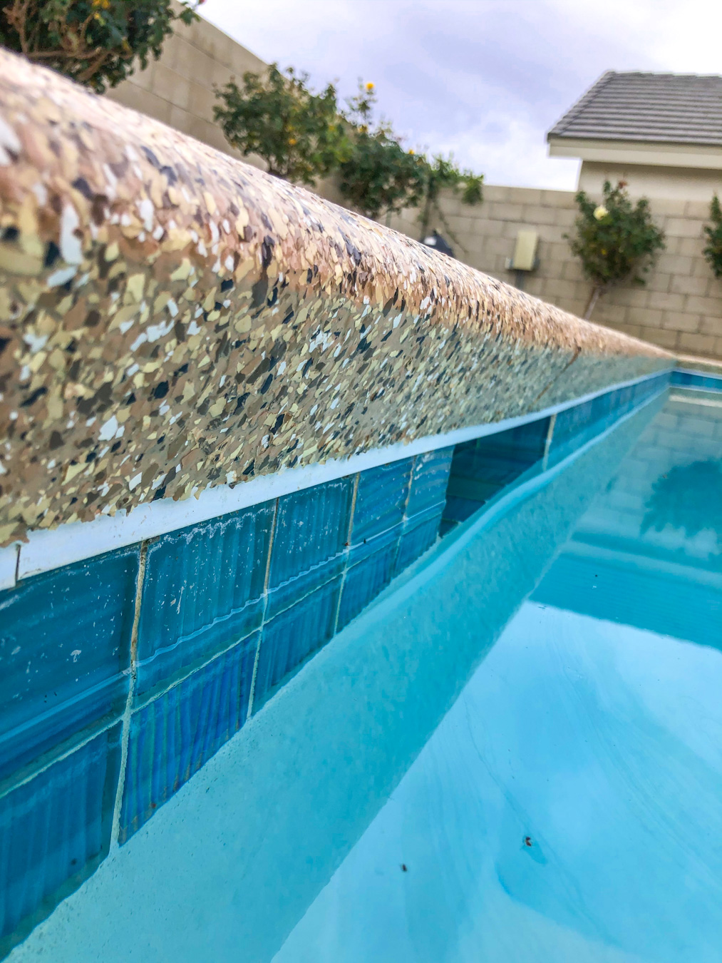 Close-up of Concrete Coating on a Pool Deck