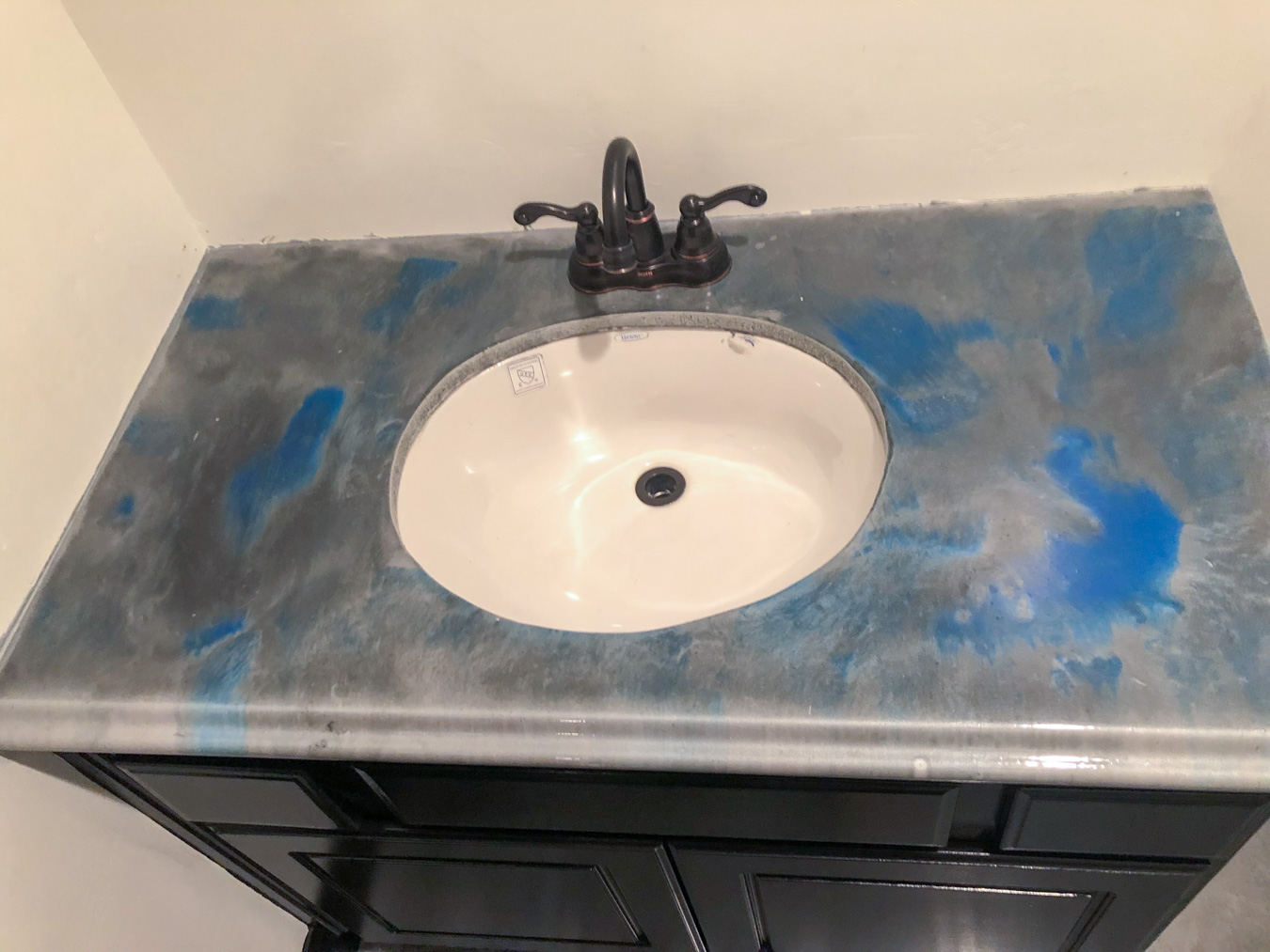 Sink Counter Metallic Concrete Coating
